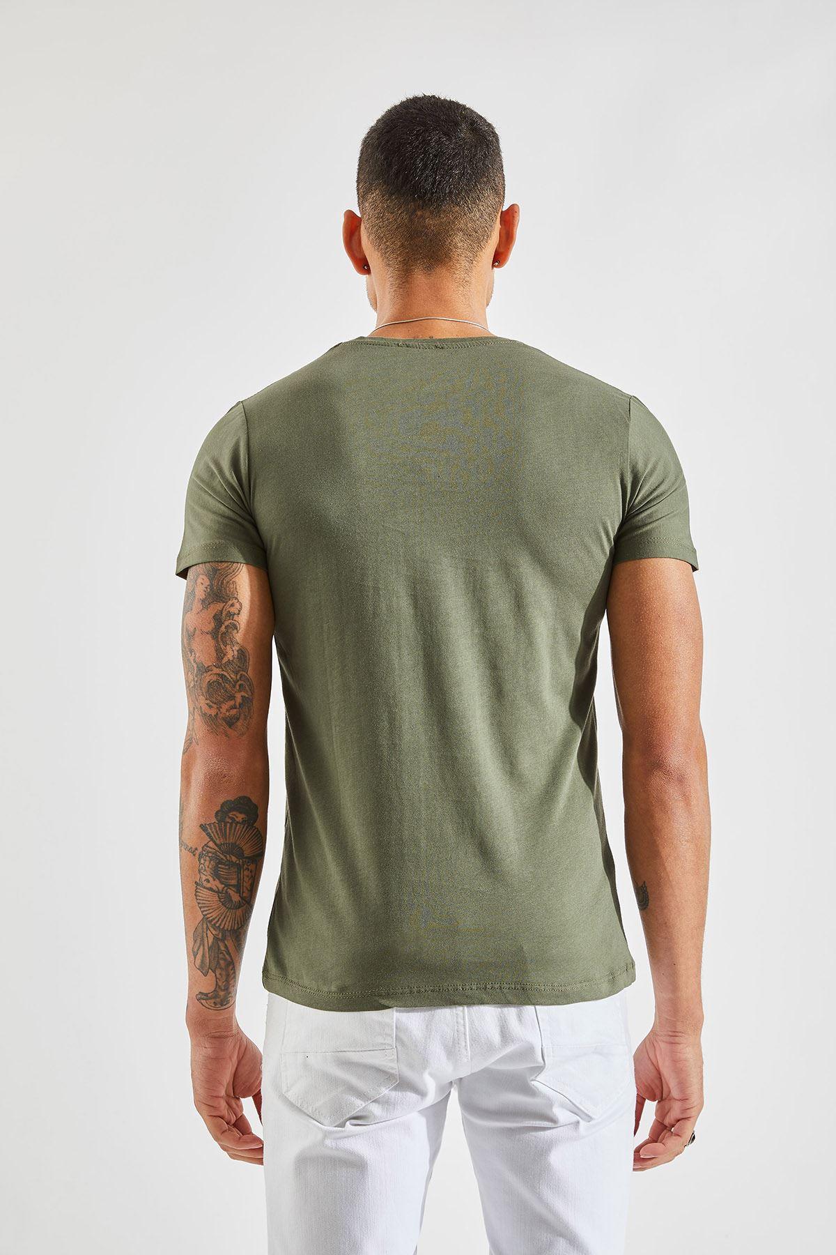 V Yaka Bay Haki T-Shirt