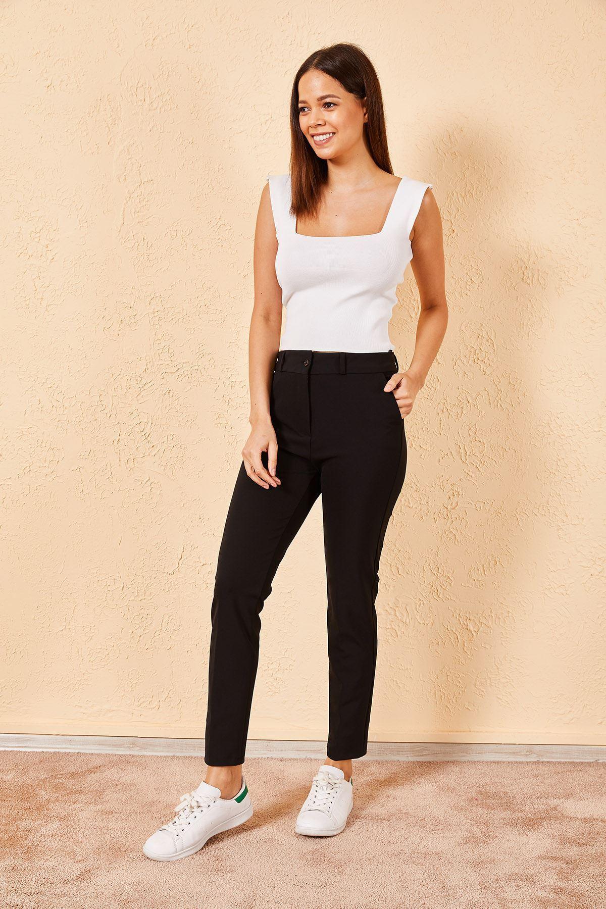 Kadın Kalem Siyah Pantolon