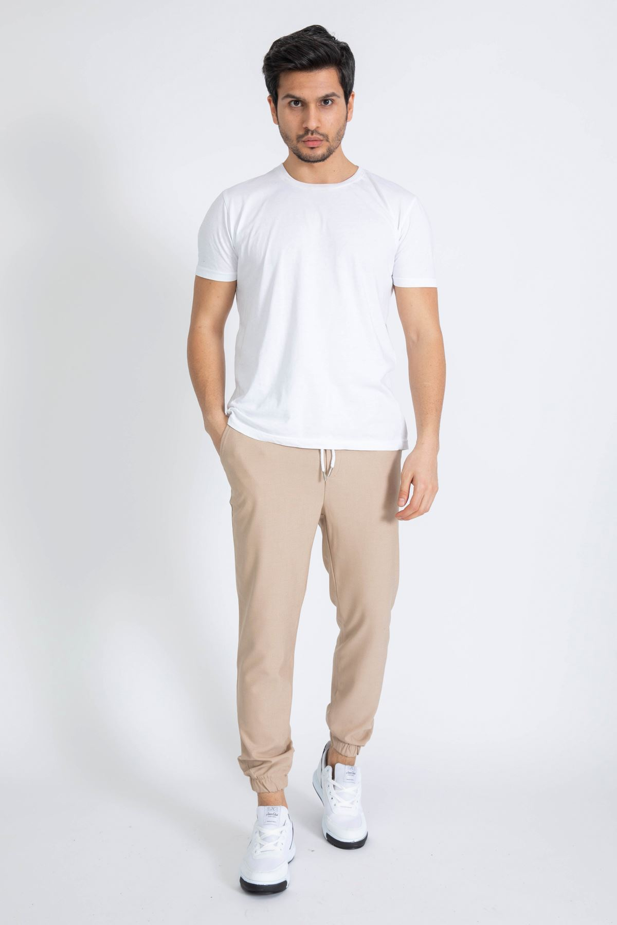 Erkek Paça Lastikli Vizon Dalgıç Pantolon