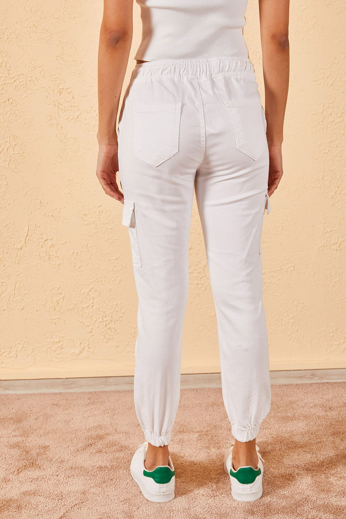 Kadın Lastikli Kargo Pantolon