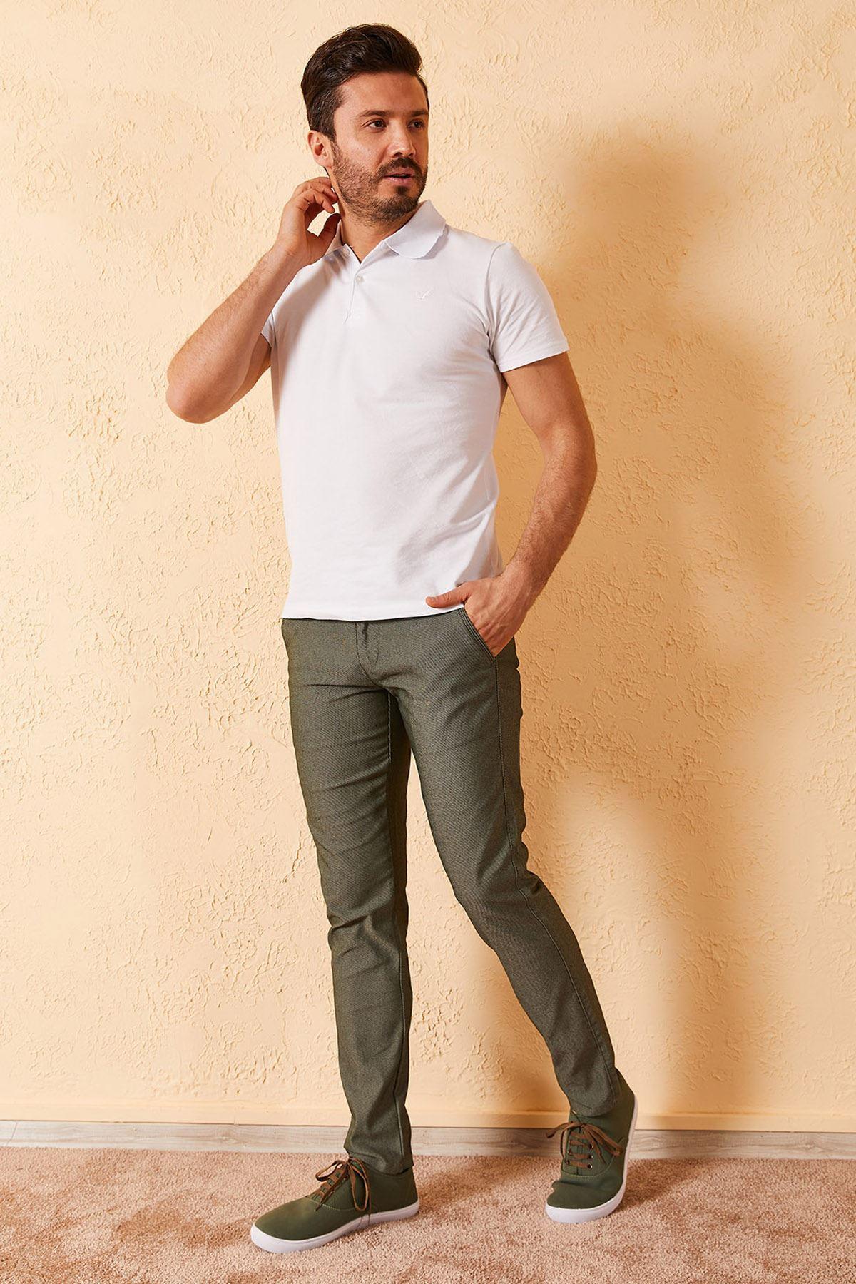 Erkek Slim Yan Cepli Pantolon