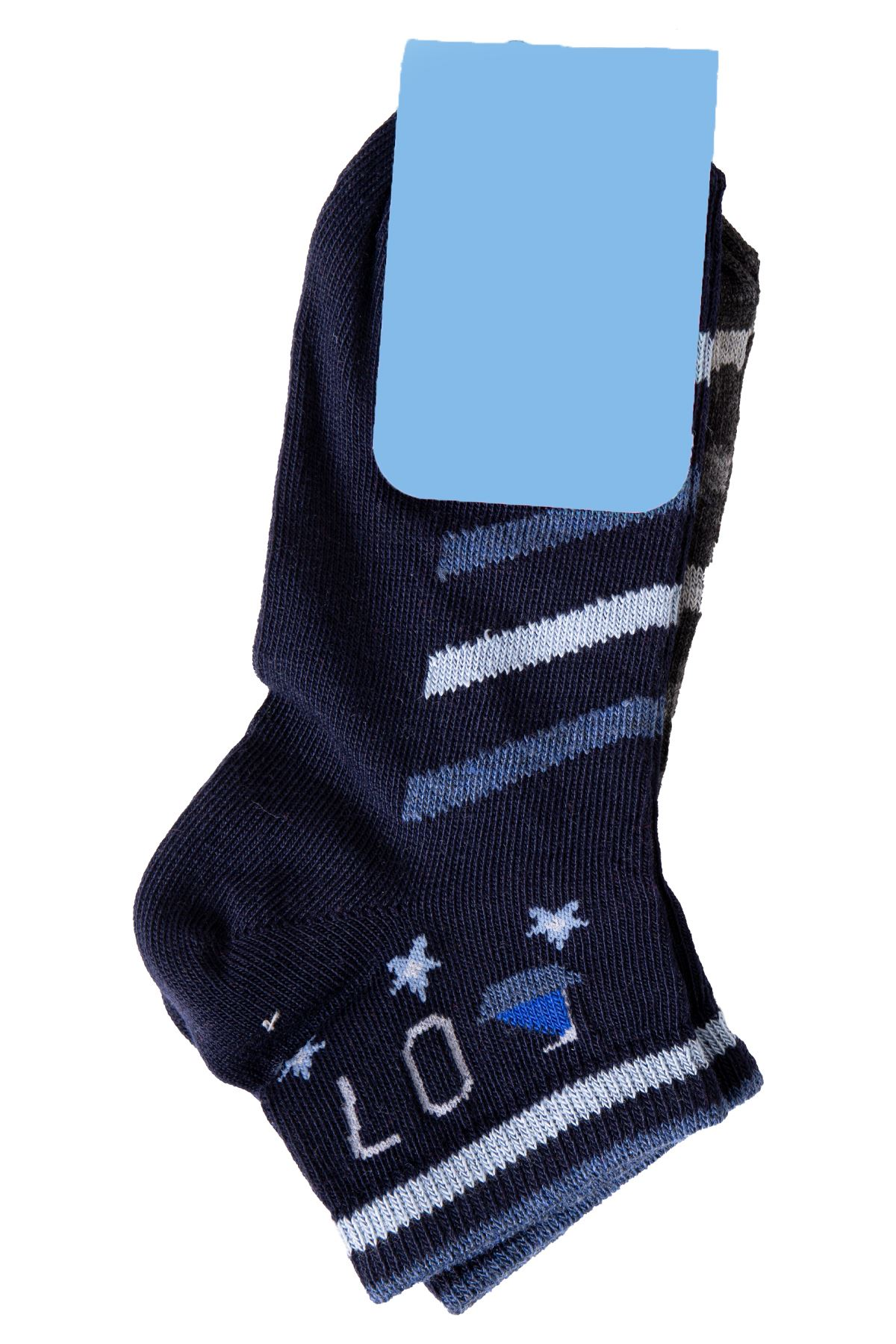 Erkek Çocuk Baskılı Lacivert Çorap