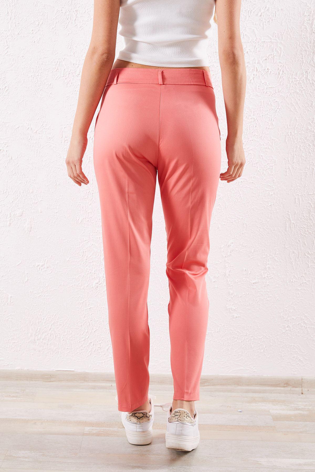Kadın Kalem Somon Pantolon
