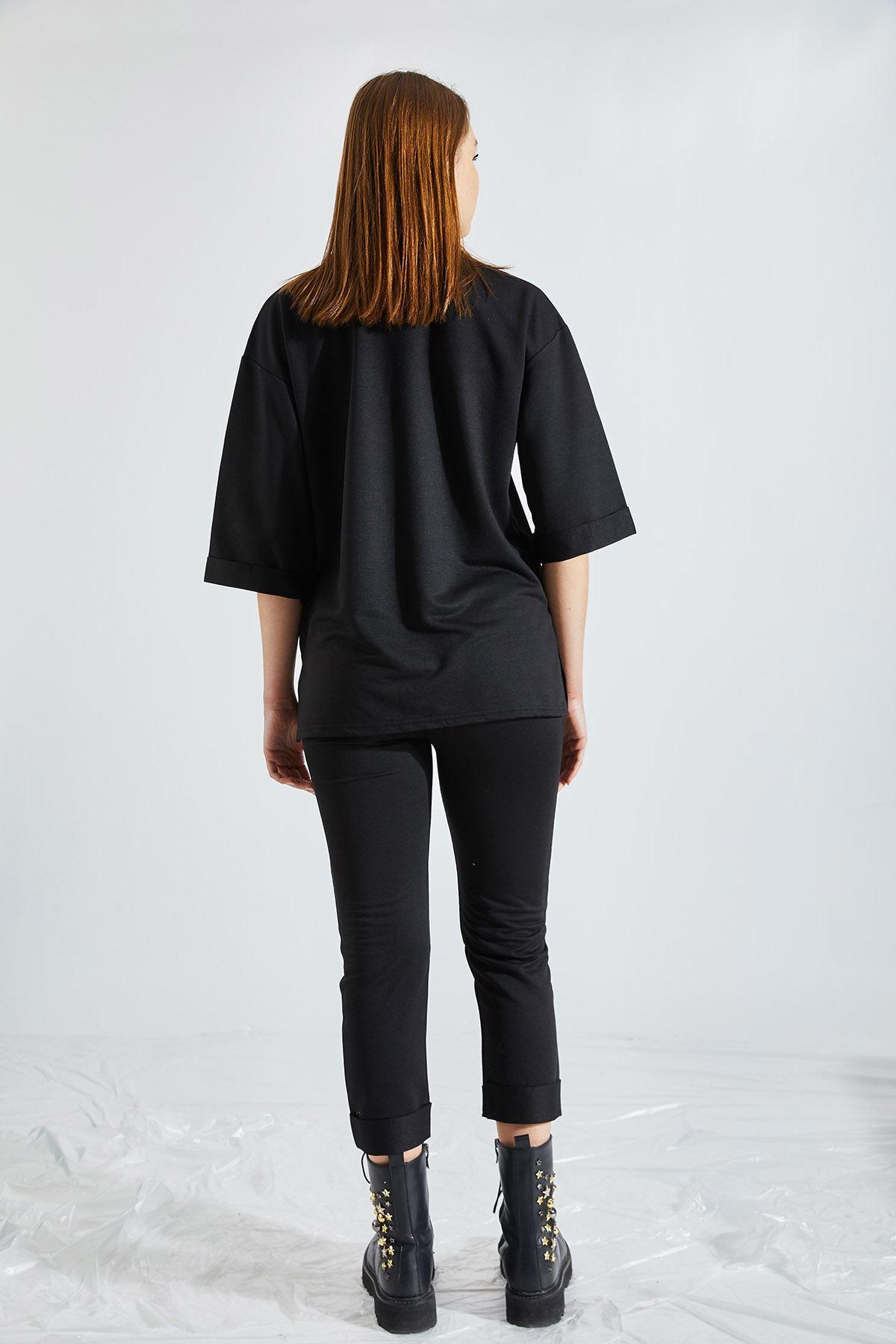 Kadın 2 İplik Siyah Takım