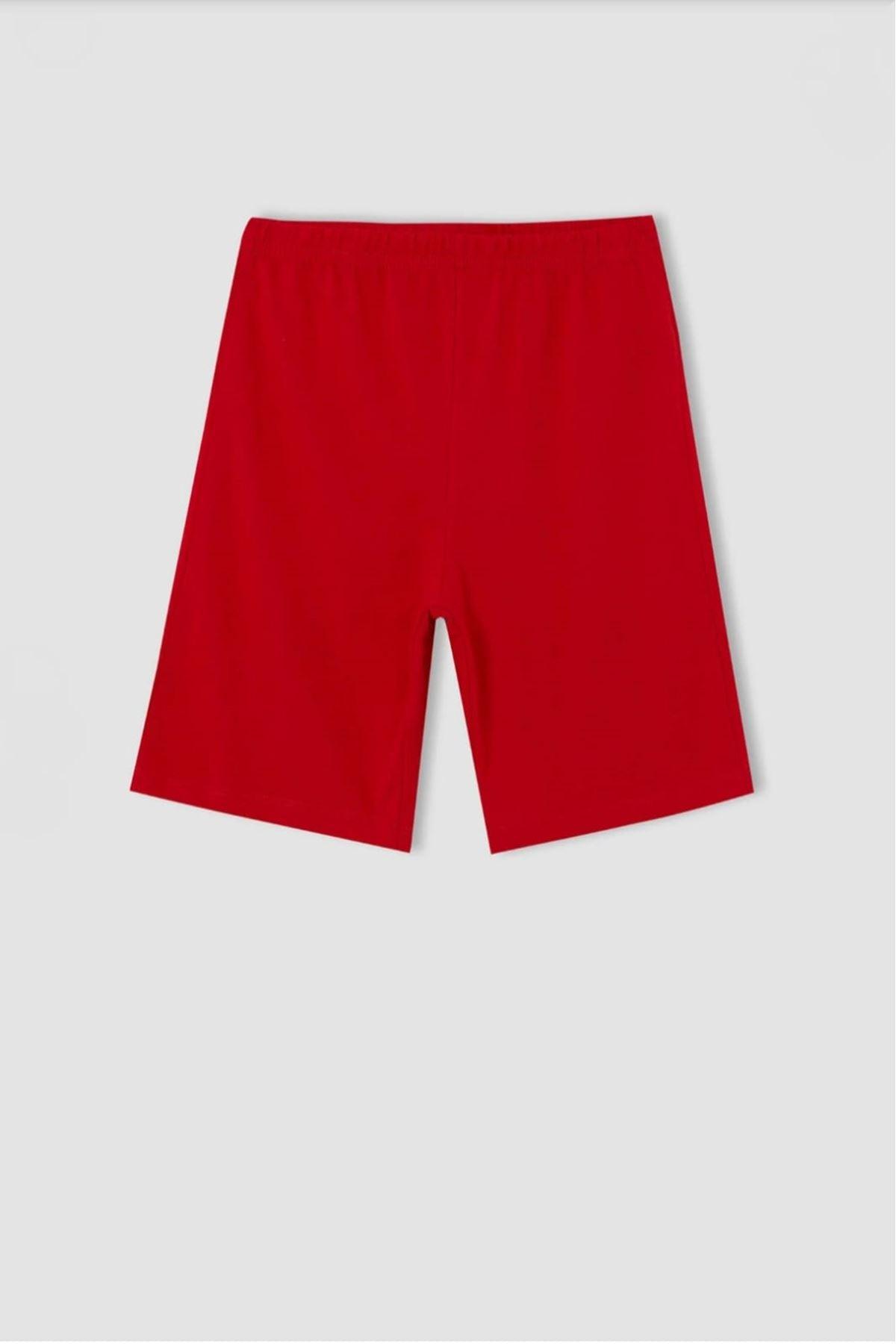 Erkek Çocuk Baskılı 2'li Kırmızı Takım