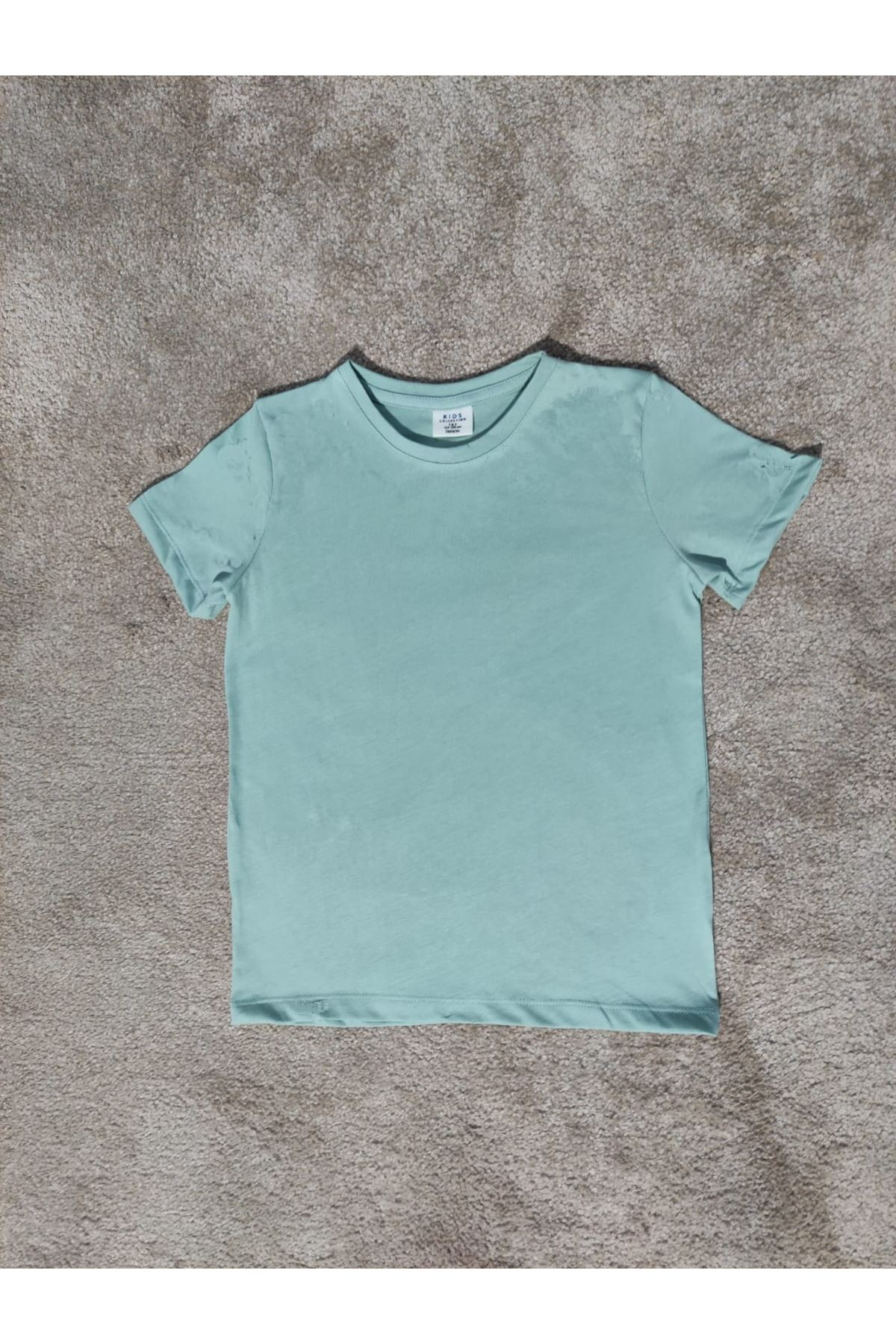 Kız Çocuk Bisiklet Yaka Mint T-shirt